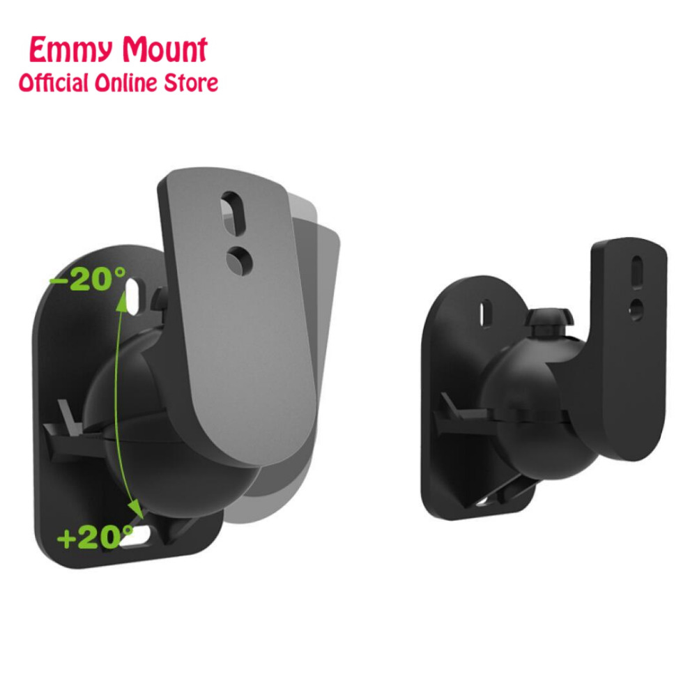 New (1 Pair) S03 High quality 1 Pair Universal Surround Speaker Wall Bracket Mount Tilt Swivel Holder Stand