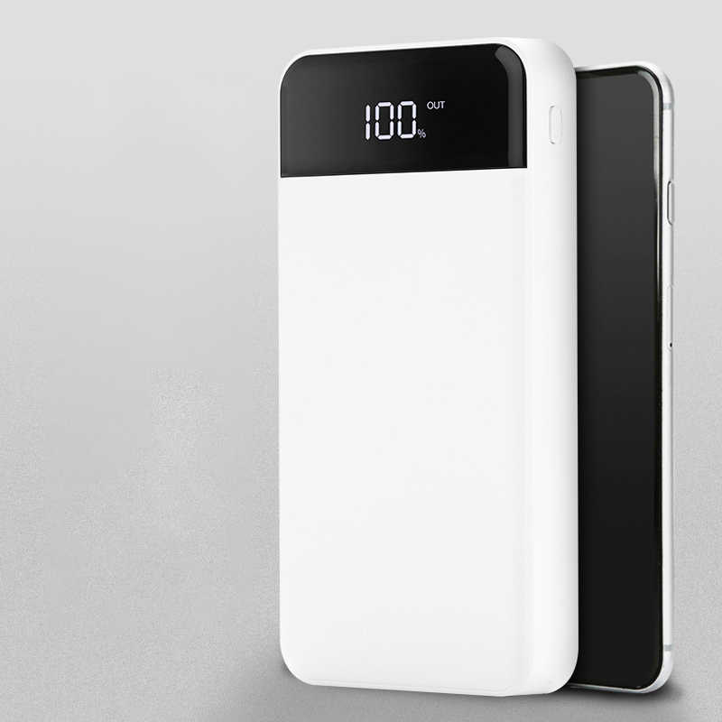 Real Power Bank 30000mAh 4USB Output External batteryLCD Digital Display Portable Charger for iPhone 6 7 8 X Huawei honor
