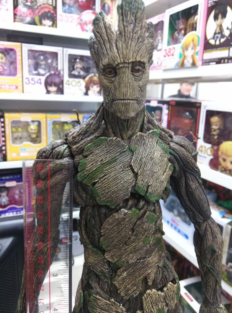 Anime Marvel Guardians of the Galaxy Thanos Action Figure PVC Toys Model Groot Tree People Great Grout collection Decoration new funko pop guardians of the galaxy tree people groot