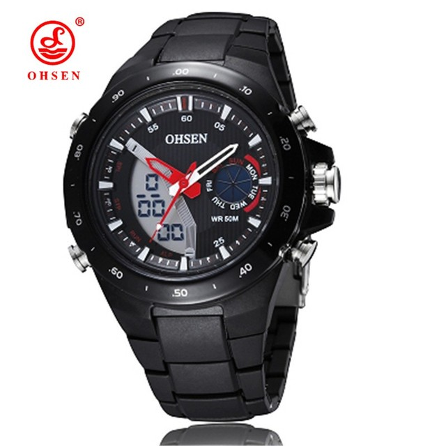 Новый Ohsen Часы LED Мужчины Цифровые Мужчины Спортивные Часы Для Мужчин Кварцевые Военные Часы Montre Homme Esportivo Relogios Смотреть Подарок