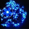 Novelty solar do diodo emissor de cereja flores do jardim luzes da corda do feriado festival partido páscoa decoração iluminações lâmpadas à prova d' água cereza