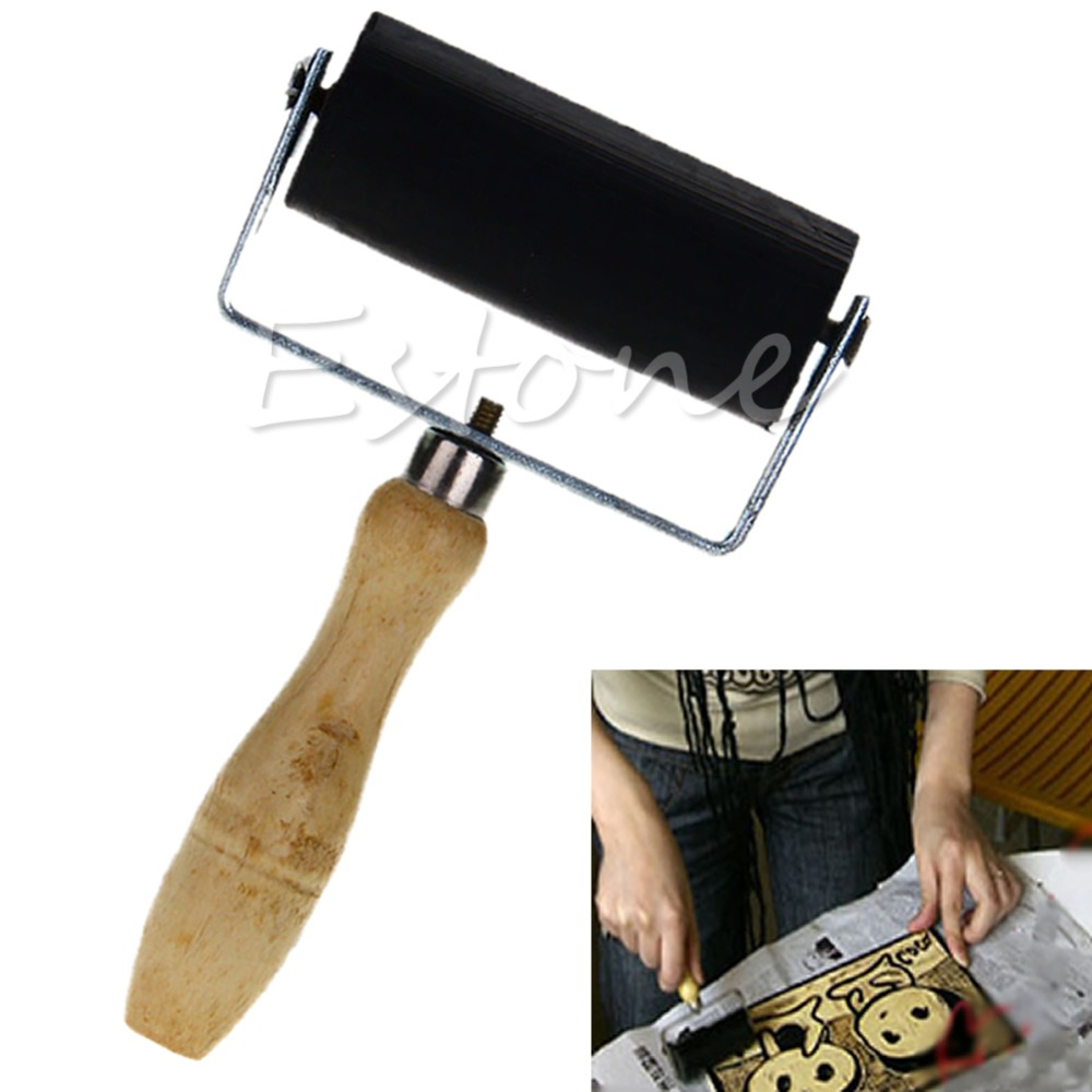 6cm Professional Brayer Ink Painting Printmaking Roller Art Stamping Tool -Y103