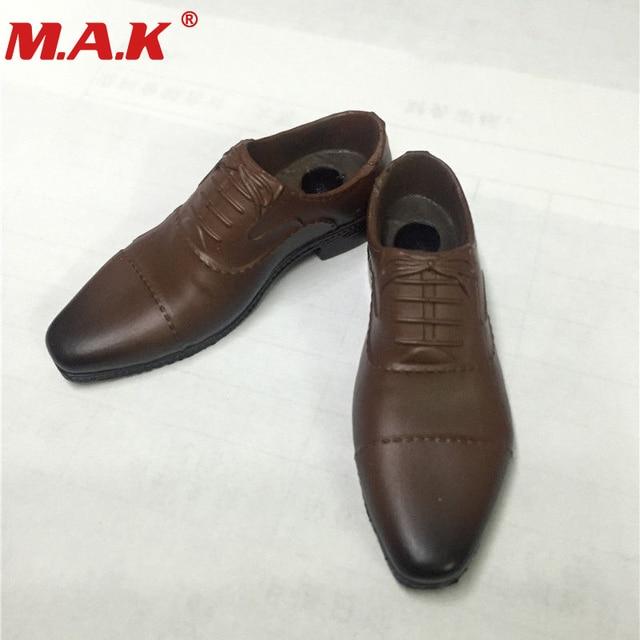 """1/6 ölçekli erkek kahverengi deri ayakkabı botları modelleri için fit 12 """"erkek erkek çocuk figürü vücut aksesuarı"""