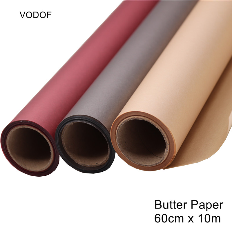 Waterproof Flowers Wrapping Butter Paper Gift Wrapping Paper Bouquet Packaging Craft Oil Paper Flower Shop Florist Supplies