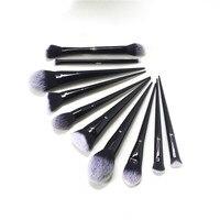 K SEREIS 10Pcs Makeup Brush Set (#10 20 25 35 40 1 2 4 Shade+Light Lock it edge Powder Foundation Contour Concealer Eyeshadow)