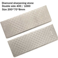 Double side diamond oil stone grinding edge sharpener home kitchen tool, carpenter's chisel, jade, seal cutting YS017