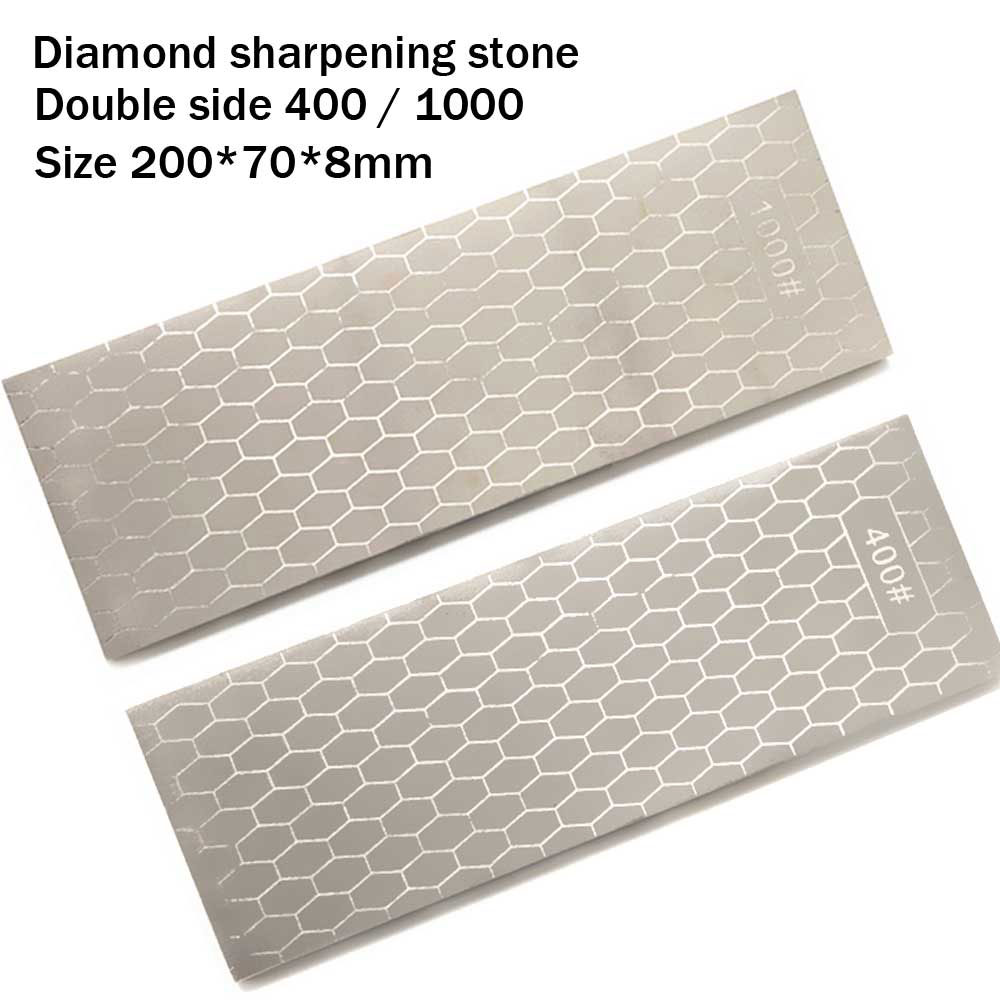 цена на Double side diamond oil stone grinding edge sharpener home kitchen tool, carpenter's chisel, jade, seal cutting YS017