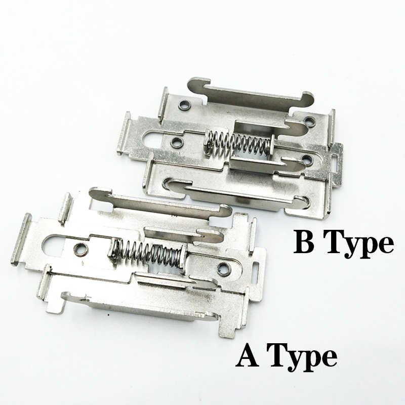 35 Mm Gesper DIN Rail Tetap Solid State Relay Klip Clamp Single-Phase Solid State Relay Rak Pemasangan Radiator mouting Rak