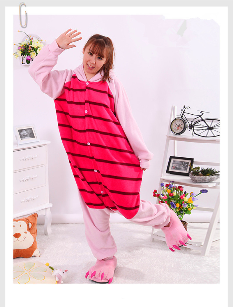 Autumn/winter animal cartoon conjoined pajama pijie, a couple of ladies home clothes