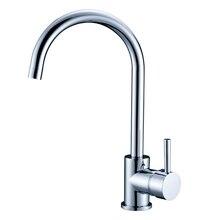 Современный Европейский Стандарт Качества Кухня Водопроводной Воды Chrome Горячей и Холодной Одной Ручкой 100% Латунь Кухонный Смеситель Воды
