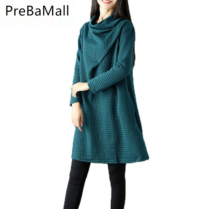 New Style Autumn Winter Maternity Dresses Long-sleeve For Pregnant Loose Solid Pregnancy Clothes Tops Vestidos Clothing B0470 maternity dress autumn winter dresses for pregnant women turtleneck collar solid maternity clothing pregnancy loose clothes