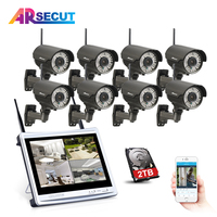 Anran 8CH NVR 720P Wireless CCTV System HD 78 IR Outdoor Night Vision Security Camera Home