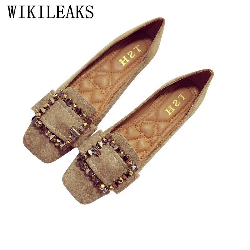 Fibbia in metallo delle signore scarpe da barca donna appartamenti  zapatillas mujer delle donne casuali scarpe slip on piatte scarpe donna  mocassini ... 029719b43ca