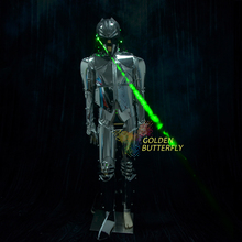Blade Robot Costume Dragon Lens LED Clothing Light Clothes Dance Alien Suit Men Halloween Science Fiction Movie Robot Costumes