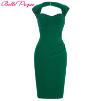 Women Summer Dress Vestidos Red Purple Green Sleeveless Sexy Party Club Dresses Big Size Vintage Pencil Bodycon Dress Elegant