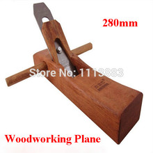 280mm Rose Wood Workmanship Hand Tools Woodworking Plane Wooden Smoothing Plane With Edged Blades цены