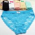 Rebantwa Fashion Sexy Lace Women Underwear Seamless Girl Transparent Panties Lady Lingerie Sexy Underwear Cotton Lace Plus Size