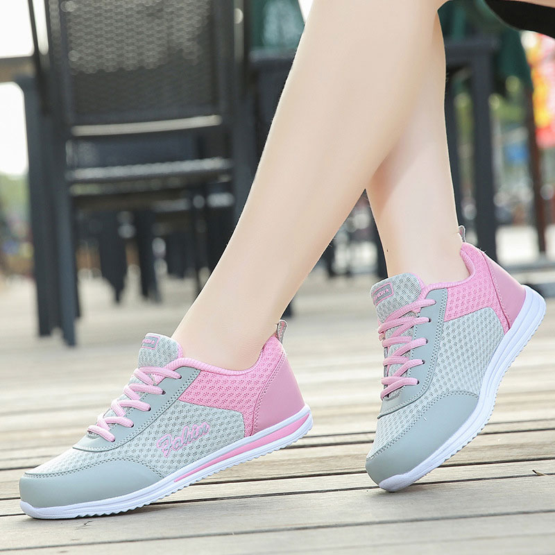 Running Shoes Women Sneakers 2019 Fashion Lace-up Sport Casual Shoes Woman Breathable Mesh Sneakers Women Shoes Zapatillas Mujer