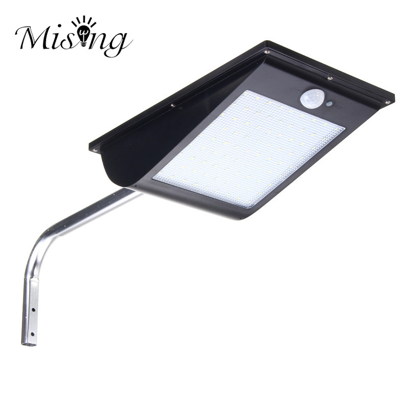 Mising 81 LED Garden Light Motion Sensor LED Solar Light Outdoor Street Porch Light 10W Parking Security Dim Wall Lamp
