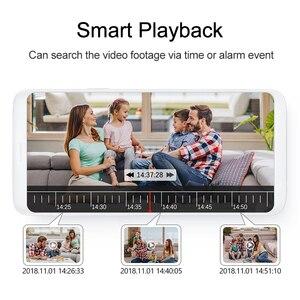 Image 4 - Techage 4CH 무선 2 테라바이트 HDD NVR CCTV 보안 시스템 4 pcs 720 P 1MP 돔 Wifi IP 카메라 Ir 야간 감시 키트