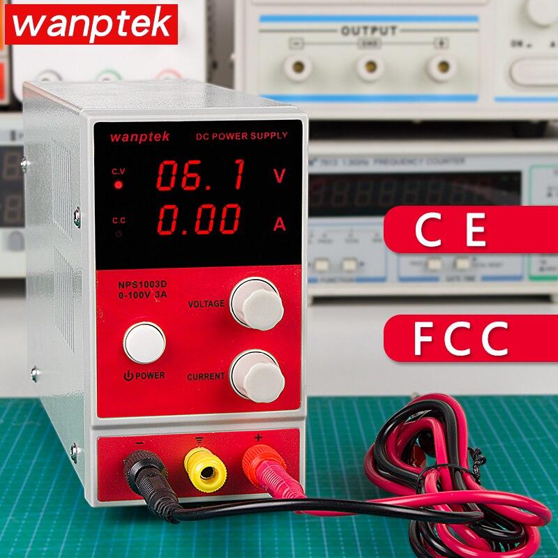 Wanptek NPS 100V 3A adjustable NPS1003D DC power supply Digital Voltage Regulator laboratory power Voltage Regulator