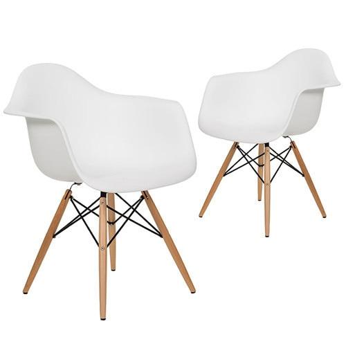 Minimalistischen Modernen Design Kunststoff Und Festen Holzbein