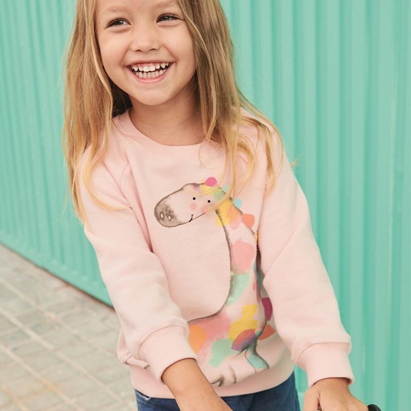 Sweatshirt Giraffe Print Toddler Girl's Baby Little Children's Autumn Cotton for Fleece