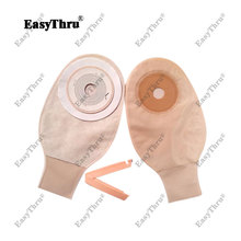 1pc One-Piece System Open Colostomy Ileostomy Bag Ostomy Drainable Pouch For Stoma Care Feces Collection Bile Leakage