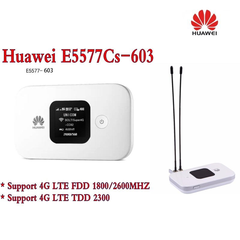Original Unlock 4G Wireless Router LTE Mobile WiFi Router with SIM Card Slot Huawei E5577Cs-603+2Pcs 4g antennaOriginal Unlock 4G Wireless Router LTE Mobile WiFi Router with SIM Card Slot Huawei E5577Cs-603+2Pcs 4g antenna