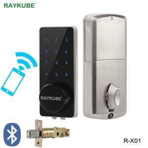 Image 2 - RAYKUBE قفل الباب الالكتروني كلمة السر رمز بلوتوث APP فتح اللمس لوحة المفاتيح التحكم في الوصول قفل لأمن الوطن