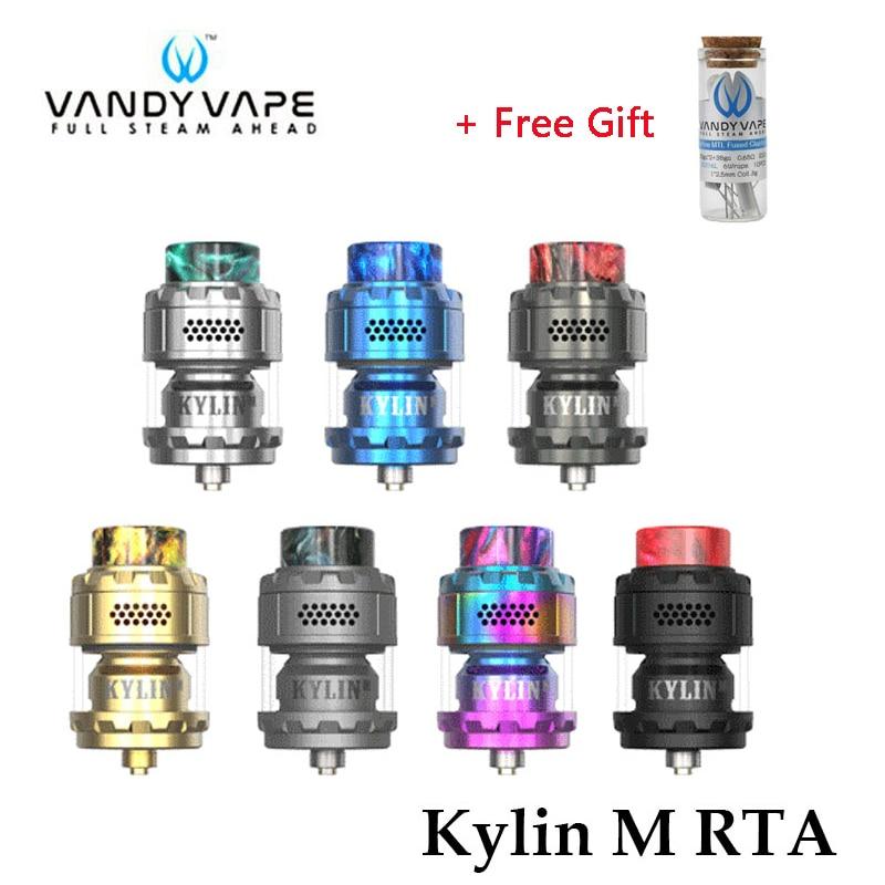 Atomiseur de réservoir reconstructible d'origine Vandy Vape Kylin M RTA 3 ml/4.5 ml cigarette électronique boîte Mod Vape vaporisateur
