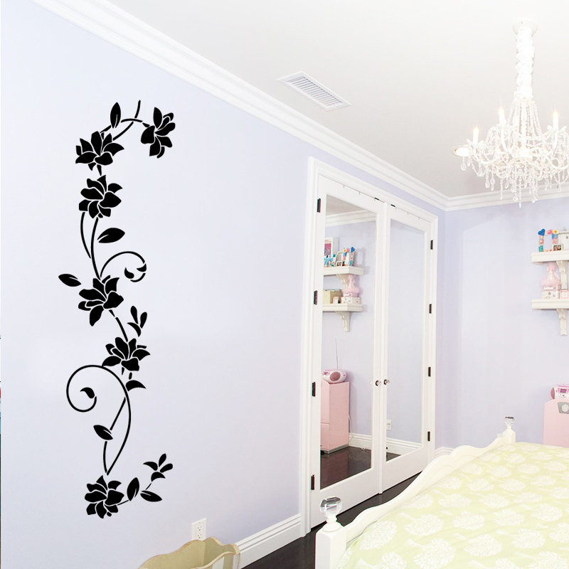 US $2.76 12% OFF|Cute Flowers Wall Stickers Wall Art Decals Bedroom Decor  Accessories Decor for Living Room Removable Babys Room Muraux PVC-in Wall  ...