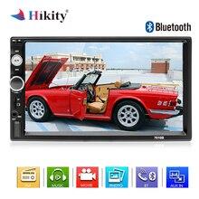 Hikity 2 Дин Радио Bluetooth Авторадио MP5 мультимедийный плеер 7 «HD Сенсорный экран цифровой Дисплей Поддержка заднего вида Камера
