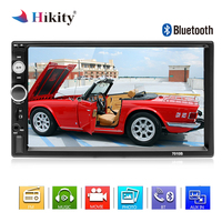 Hikity 2 din Car Radio Bluetooth Autoradio MP5 Multimedia Player 7 HD Touch Screen Digital Display Support Rear View Camera