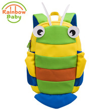 Rainbow Baby Small Bee Kids & Babys Bags Anti Lost School Bags for 2-Eight Years Boys and Girls Bagpack Waterproof Backpack
