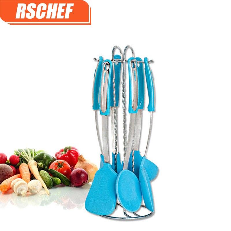 7 pièces/ensemble Silicone outils de cuisson à boire cuisine ustensiles de cuisine vaisselle vaisselle accessoires fournitures équipement produit