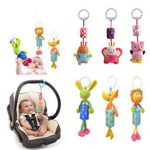Wind Chime Cute Animal Infant Baby Soft Crib Toy Stroller Hanging Bell Rattle Mobiles for Baby Crib Newborns Children Gift(China)