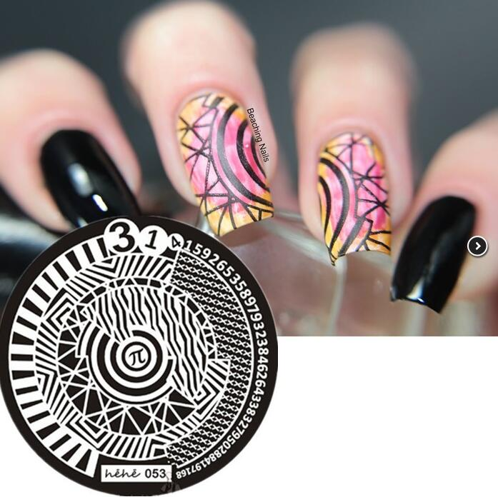 #0053 Round Nail Art Stamp Stamping Plates Template Number Sign Pavilion Image Plate hehe053