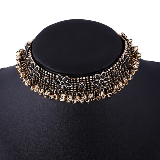 2016 Hot Boho Collar Choker Silver Necklace Statement Jewelry For WomenFashion Vintage Ethnic Style Bohemia Neck Bib Colares
