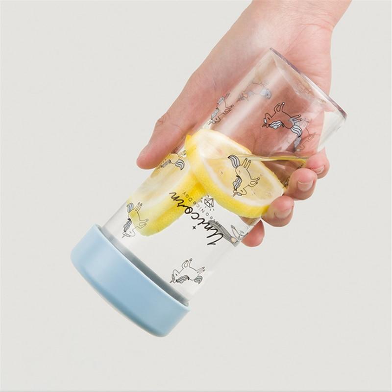 1 stück 450 ml Einhorn Party Wasser Flasche Baby Dusche Meine Flasche Trinken Flasche Botella De Agua Einhorn Party Hochzeit gefälligkeiten und Geschenk. J