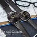 OLEVS Paar Uhren für Liebhaber Leder Casual Japan bewegung Quarz Ultra dünne Uhren für Männer Frauen Einfache armbanduhr relogio-in Partneruhren aus Uhren bei