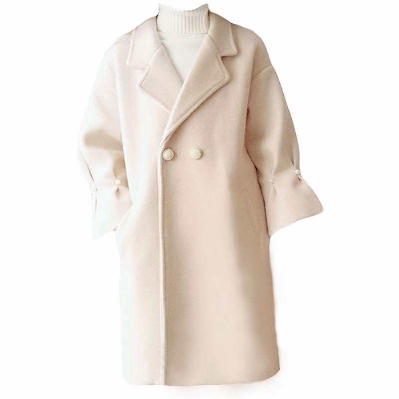 Femmes Long Manteaux Manteau Lady Coréenne Laine Cachemire Élégant Mode Automne Chaud Abricot Rose Hiver De pink Office Formelle Apricot Survêtement 5ZqAwR