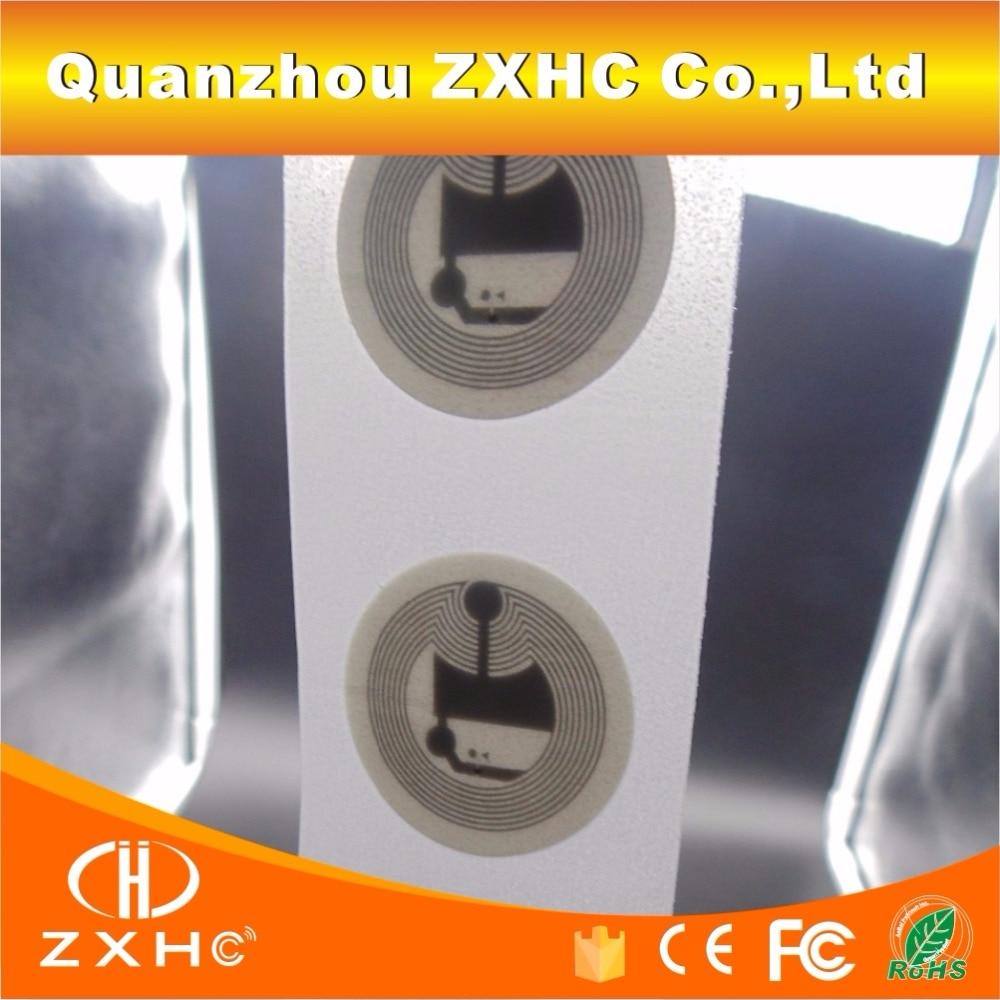 (100 Pcs/lot) 25mm Ntag213 (ntag203) 13,56 Mhz Programmierbare Nfc Smart Tags Aufkleber Für Alle Nfc Handys