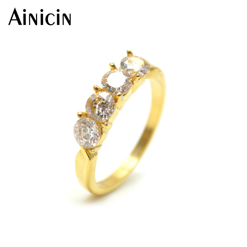 5pcs Ainicin Never Fade Antiallergic Stainless Steel Silver Plated Wedding Ring For Women Jewelry Gift
