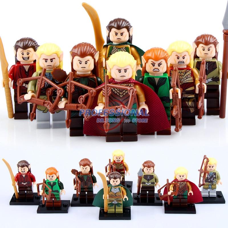 8PCS/Lot  PG8027  Hobbit Figures Haldir Terill Elf Prince Captain Guard Mirkwood leader Elrond Bricks Mini Building Blocks projector lamp bulb an xr20l2 anxr20l2 for sharp pg mb55 pg mb56 pg mb56x pg mb65 pg mb65x pg mb66x xg mb65x l with houing