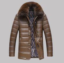 2016 hot brand Men Long New Leather Jacket Jaquetas Couro Men Leather Jacket Genuine Leather Jacket Men Male Winter Jacket Coat