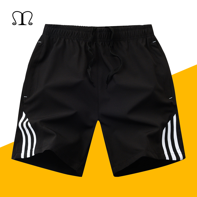 Summer Board Shorts Mens Quickly Dry Plaid Beach Shorts Men Exercise Slim Fit Solid Bermudas Masculina Plus Size Swimshorts