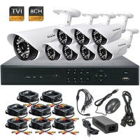 8CH 1080P HD TVI DVR HD IR CCTV 3 6mm Lens Security Waterproof Camera TVR System