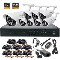 8CH 1080P HD TVI DVR HD IR CCTV 3 6mm Lens Security Waterproof Camera TVR System