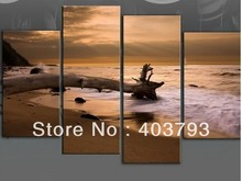 buy at disscount price Modern Abstract  Oil Painting on canvas beach Withered tree landscape (no framed) free shipping